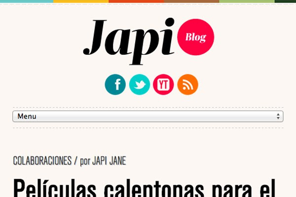 japi blog website responsive navigation design interface