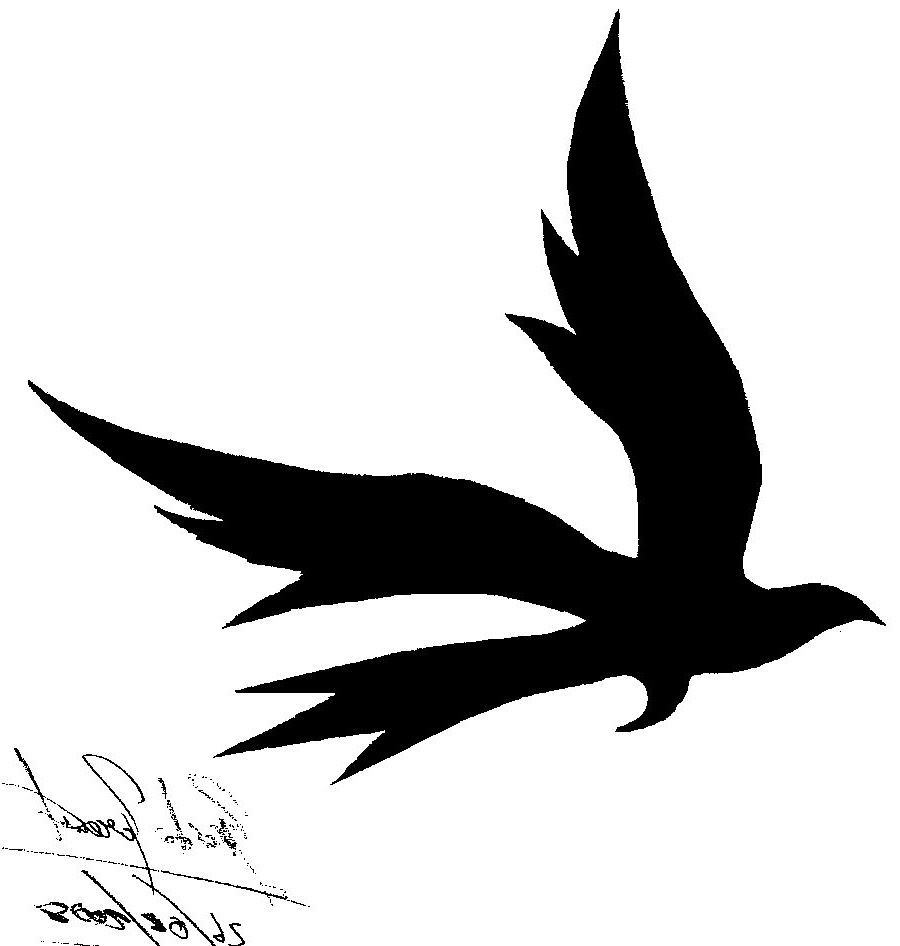 Silhouette Bird Tattoo At Getdrawingscom Free For Personal Use