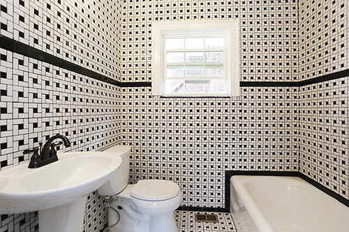 The Dizzyingly Spectacular Full On Bathroom Tile Renovations Of 2313 Wentworth Swamplot