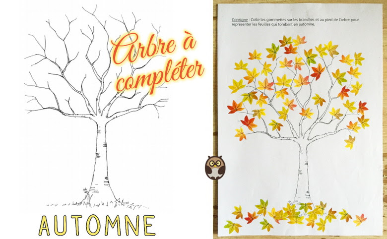 Arbre Compl Ter Pour L 39 Automne Maternelle De Bambou Arbre D