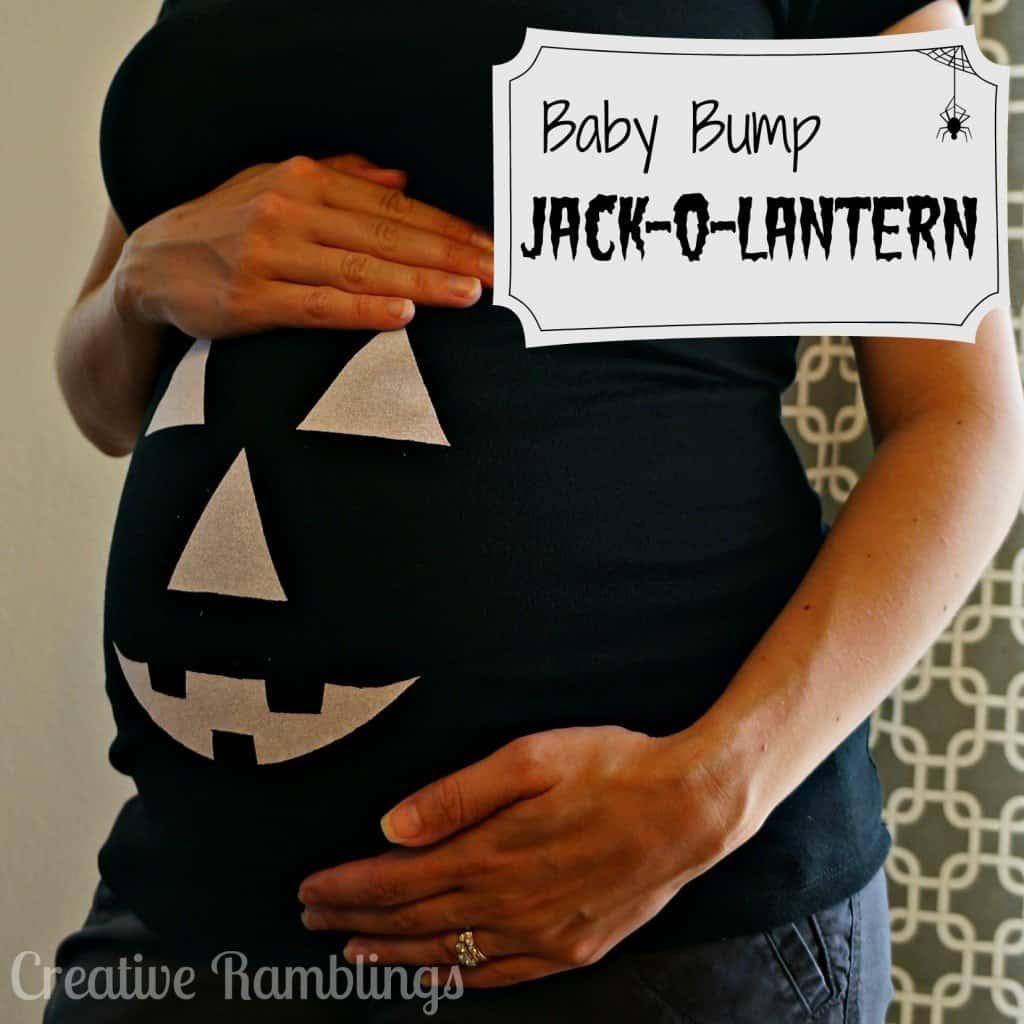baby bump jack o lantern