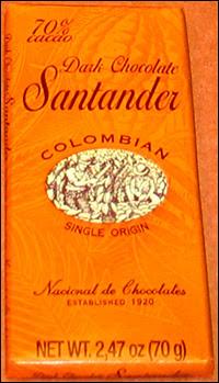 Santander chocolate