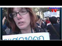 Protesting Prayuth Chan-ocha at the UN, New York  on 26 September 2015 Part 1 .  Protesting, Prayuth Chan-ocha, UN, New York .