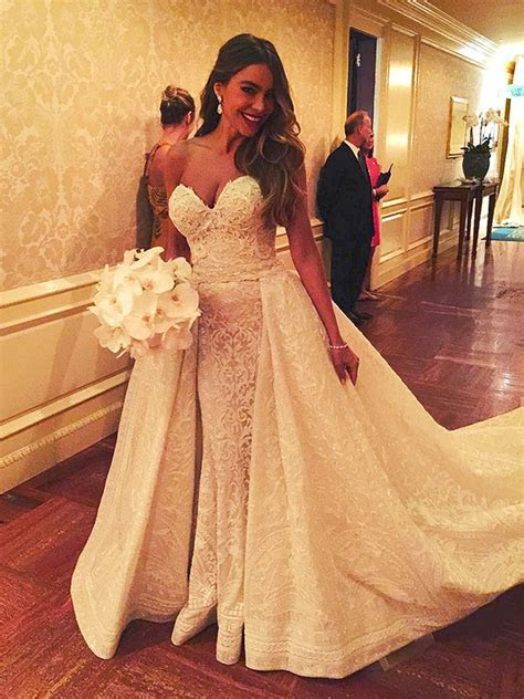 Sofia Vergara's Wedding Dress Details   PEOPLE.com