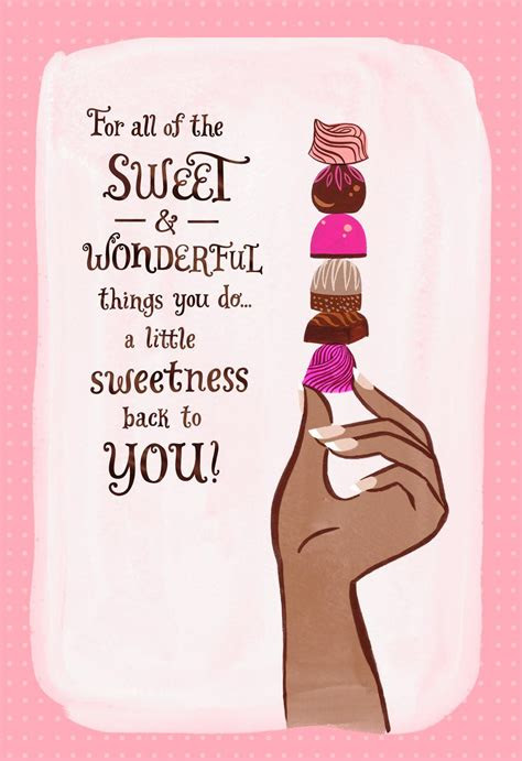 chocolate candy   card greeting cards hallmark