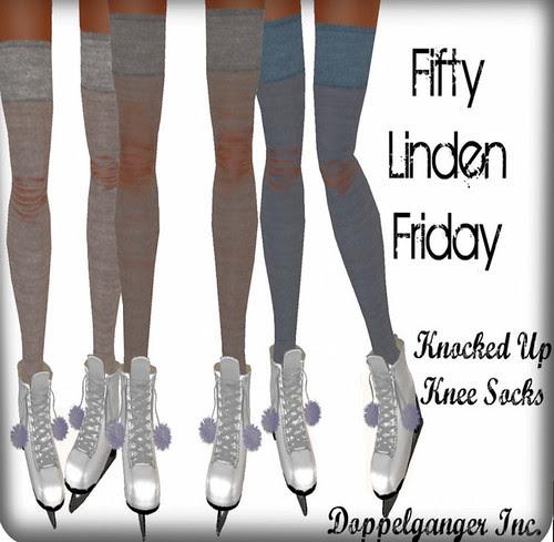 50L Friday doppelganger knocked up knee socks
