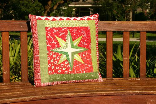 Mariner Star pillow - full frontal