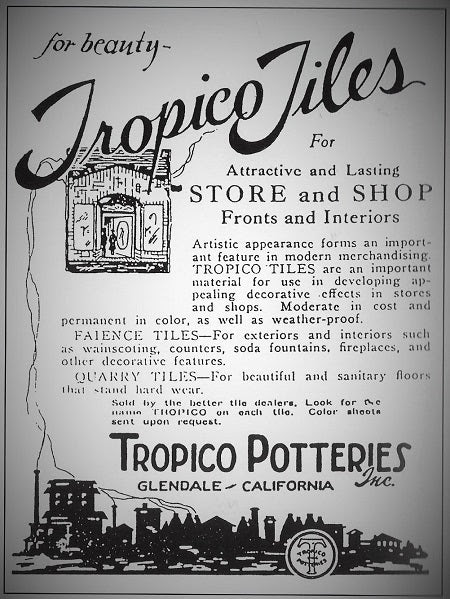 Tropico Tiles Ad showing the influence of Decorative Tiles in Commercial Design