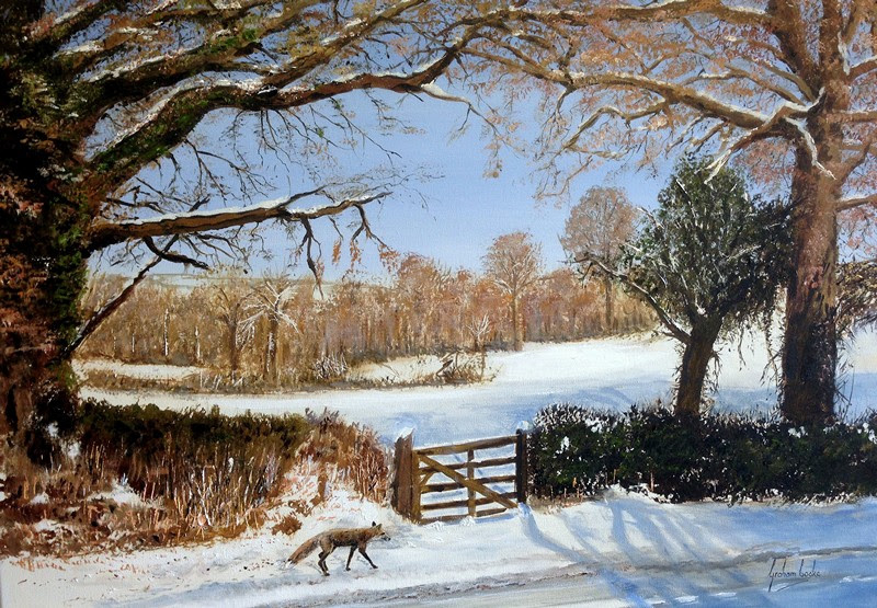 Winter Morning Stroll Graham Cooke Art