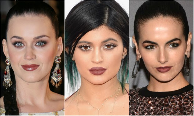 Katy Perry, Kylie Jenner e Camilla Belle apostam no make Marsala (Foto: Getty Images | AFP | Caio Duran/AgNews)