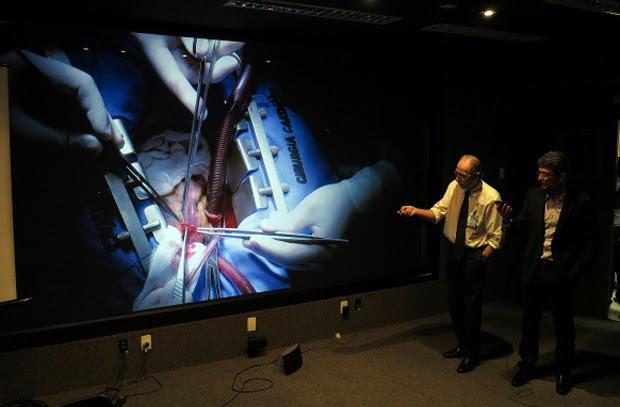 UFRN participa de transmissão inédita de cirurgia cardíaca em alta resolução. (Foto: Cícero Oliveira)