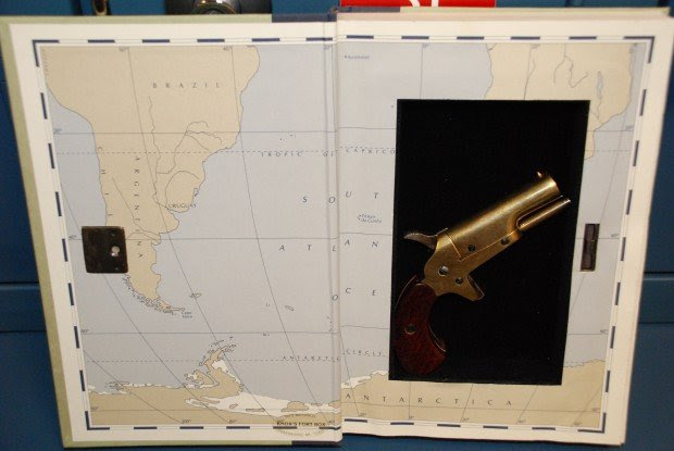 Gun found in donated book