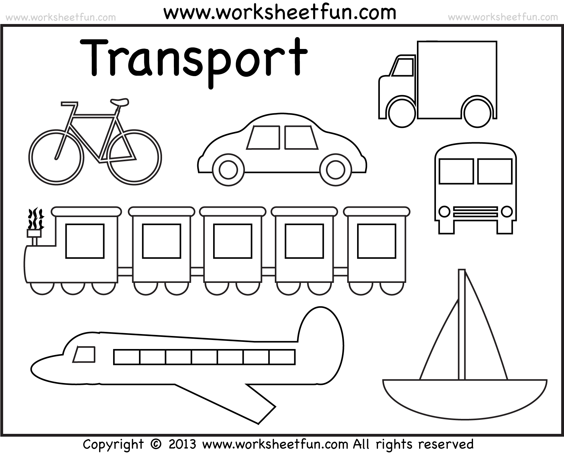 Transportation Coloring Pages For Preschool Grig3 Org