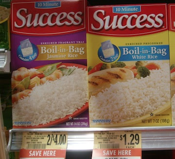success Success Rice As Low as 29¢ At Publix!