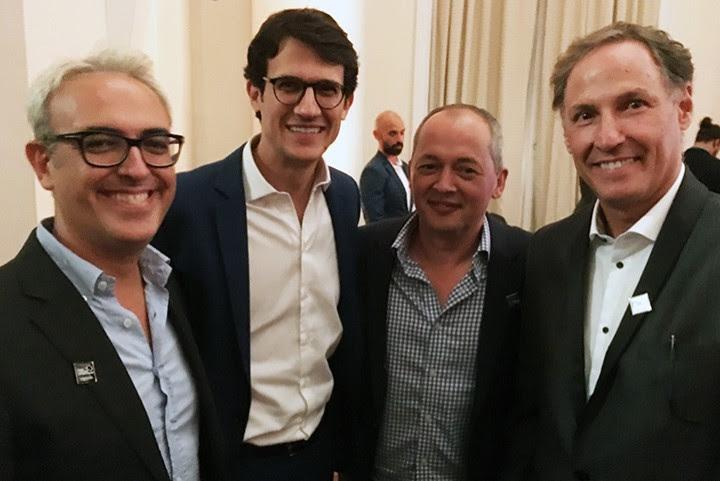 Francesco Cibo, da Coca-Cola, Eduardo Petribu, da Rede Globo, Javier Merino, também da Coca-Cola, e Dudu Godoy, da agência NBS.