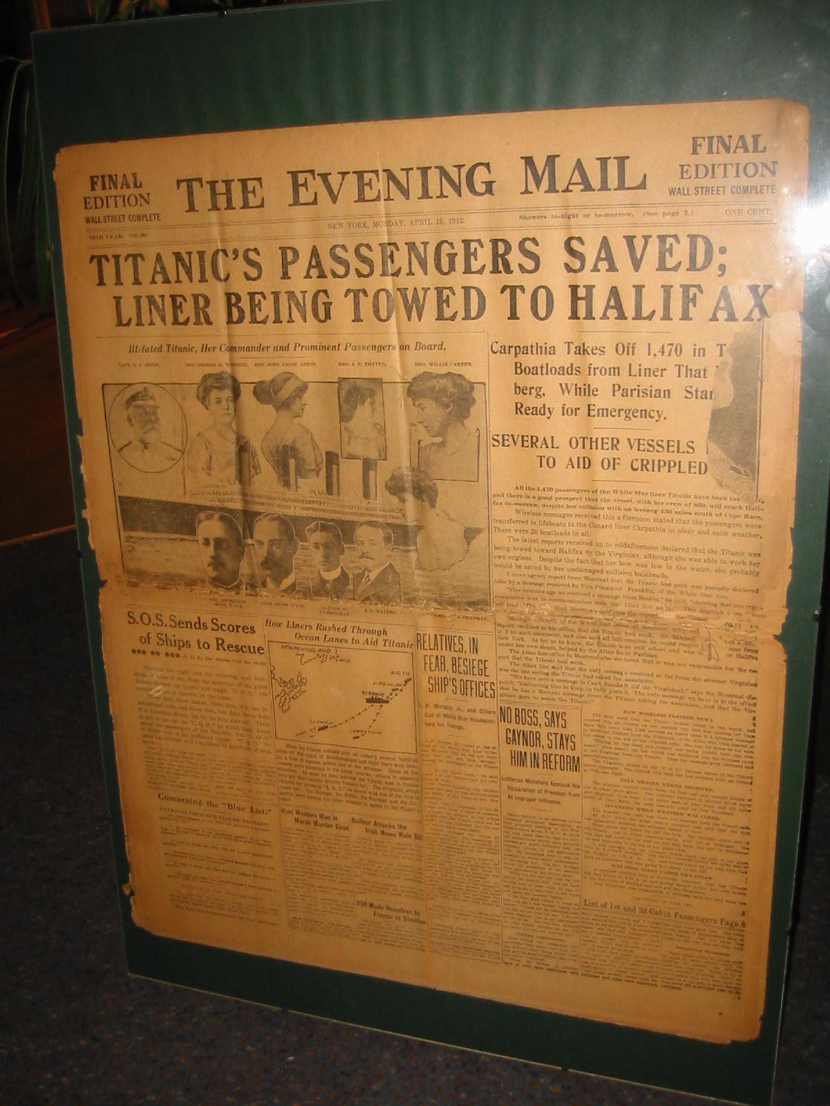 titanic journaux presse newspaper couverture fail 10 Le 15 Avril 1912 la presse annonce la catastrophe du Titanic  histoire featured