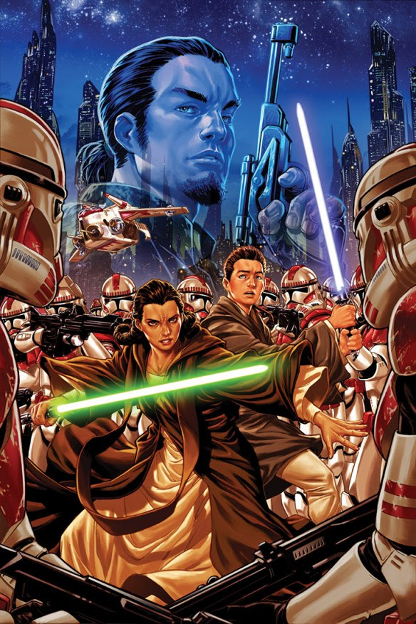 """Artwork for the cover of Marvel Entertainment's upcoming """"Star Wars: Kanan,"""" comic series, which will focus on Kanan Jarrus and how he transformed himself from Jedi padawan to erstwhile rebel against the Galactic Empire. (Image courtesy of Marvel Entertainment)"""
