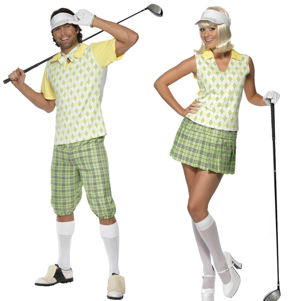 womens  mens golfer fancy dress costume – comedy pub golf