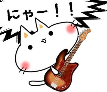 プレベ持たせてみたベース Bass ベース女子 イラスト 猫 絵が好き