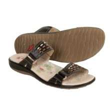Pikolinos Costa Rica Sandals - Leather Slides (For Women) in Black - Closeouts