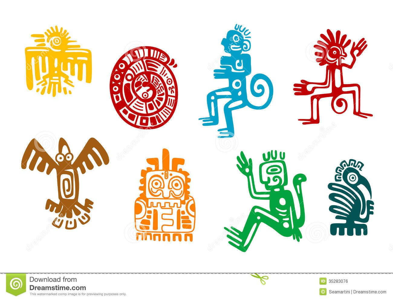 Arte Maya Dibujos Aztec Clipart Maya Pencil And In Color Aztec