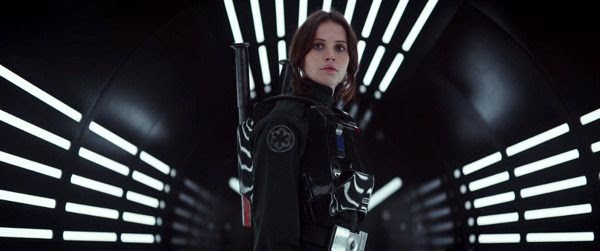 Jyn Erso (Felicity Jones) is disguised as an Imperial TIE Fighter pilot in ROGUE ONE: A STAR WARS STORY.