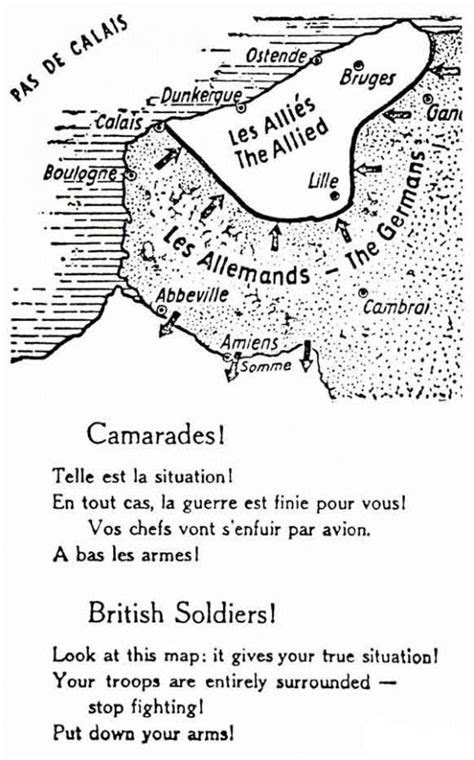 A German propaganda leaflet dropped on allied troops in