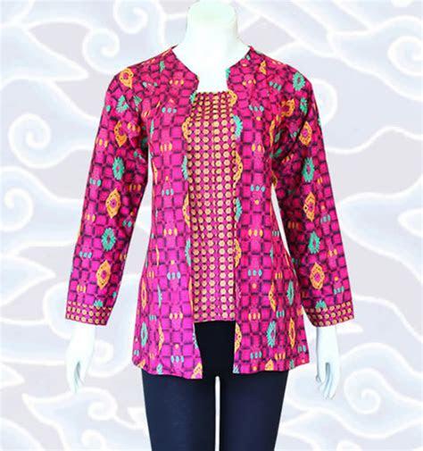 model baju blus batik elegan  modis model baju