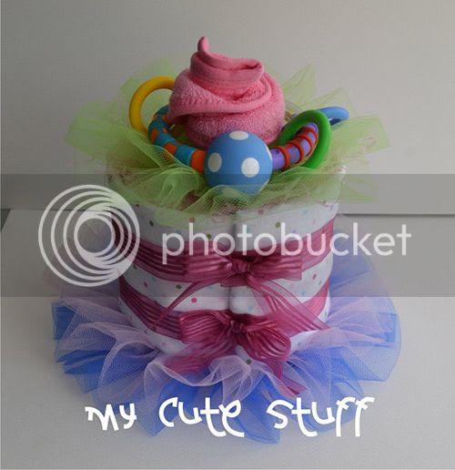 Cute Diaper Cake Baby Shower