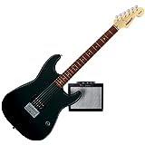 Starcaster by Fender Mini Strat Electric Guitar Starter Pack, Black