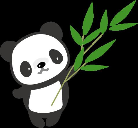 パンダのイラスト 無料イラスト