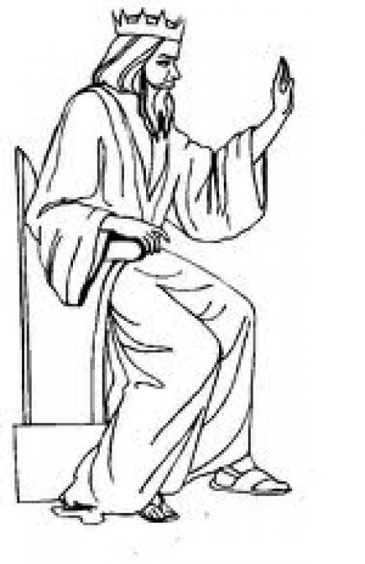 Reydereyes Y Senordesenores Dibujo Del Rey Jesus Sentado En Su Trono