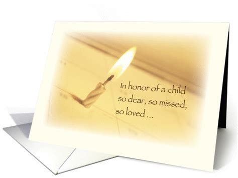 Honoring in Remembrance on Birthday, Child Death card (933953)