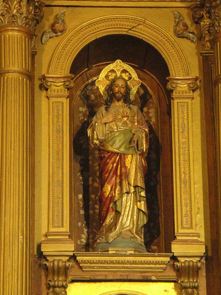 Archivo:Sagrado Corazón de Jesús. Retablo mayor de la iglesia de San Miguel Arcángel.JPG