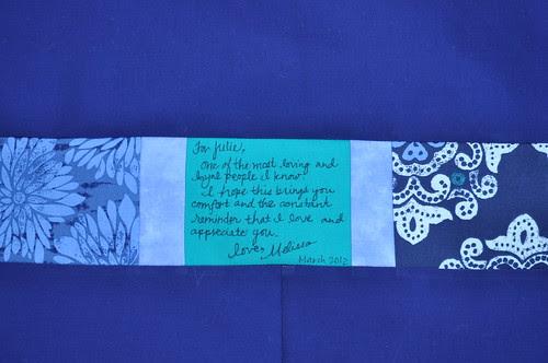 Julie's Quilt ~ The Label
