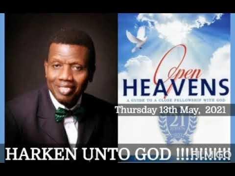Open Heaven 13 May 2021 – Hearken Unto God