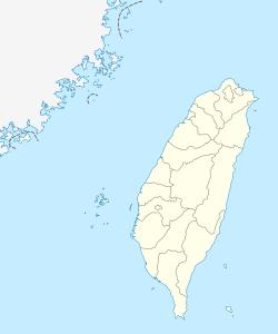 位於臺灣的震央。
