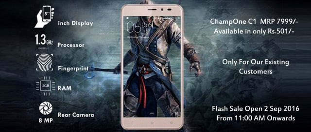 ChampOne C1 Smartphone Launched in India for Rs 501