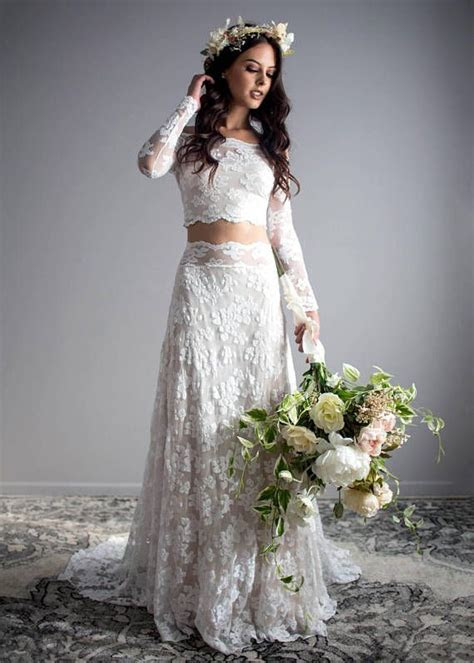 659 best Crop Top Two Piece Wedding Dresses images on