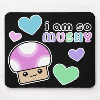 Mushy Puffs So Mushy Kawaii Mushroom Mouse Pad mousepad