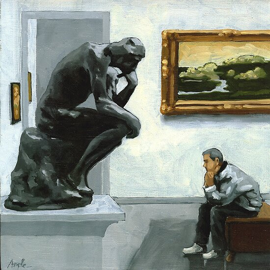Oil Paintings: A Lot to Think About by Linda Apple