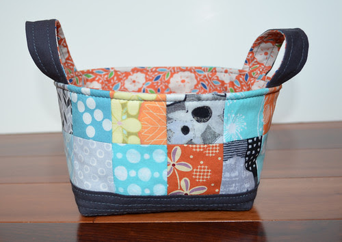 Fabric Basket for Scrappy Swap