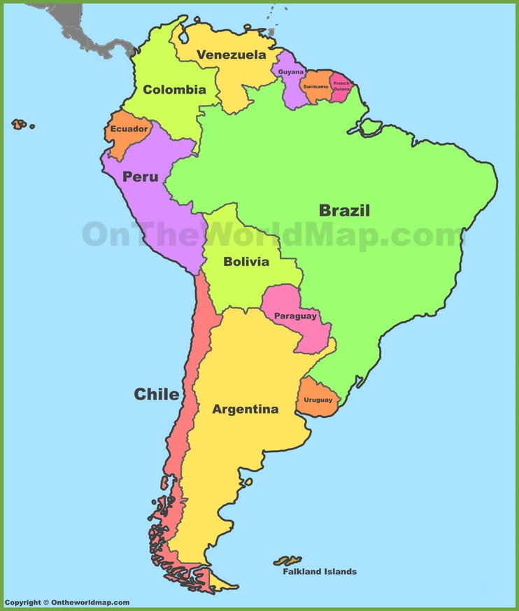 Map Of South America Time Zones.Time Zone Map South America States Map