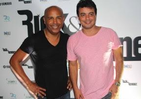 Rick e Renner em gravação de DVd em São Paulo (Foto: Thiago Duran/ Ag. News)