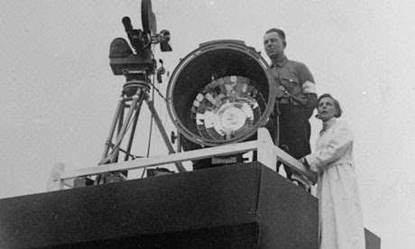 Leni Riefenstahl at work in 1936