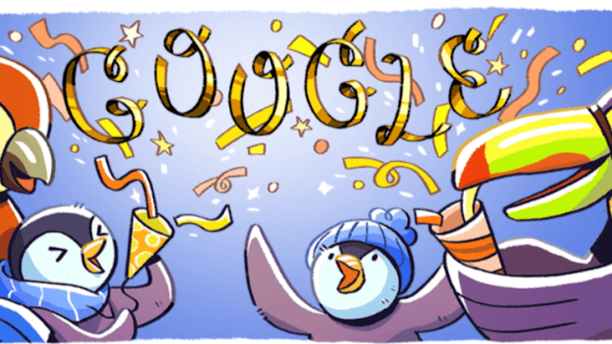 New Year's Eve 2017 Google doodle brings back penguins for the holiday doodle series