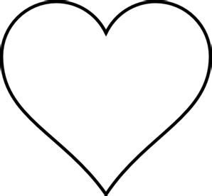 Black Heart Wedding Clip Art at Clker.com   vector clip