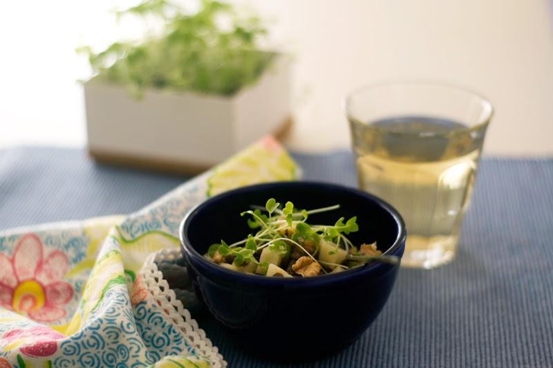 Salada de lentilhas e raiz de aipo