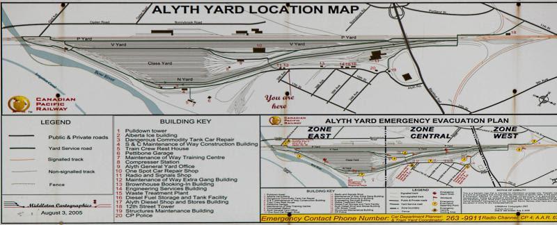 Canadian Pacific Railway Alyth yard map
