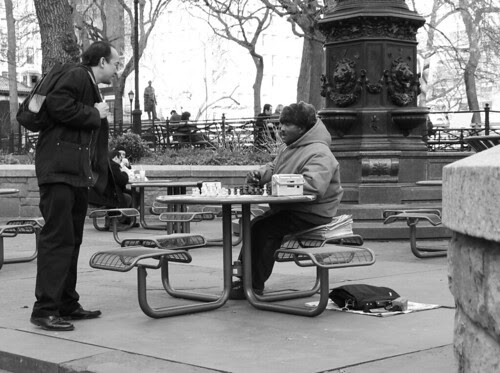 Chess in Union Square, NYC